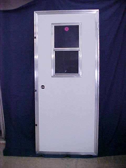Door with slider window